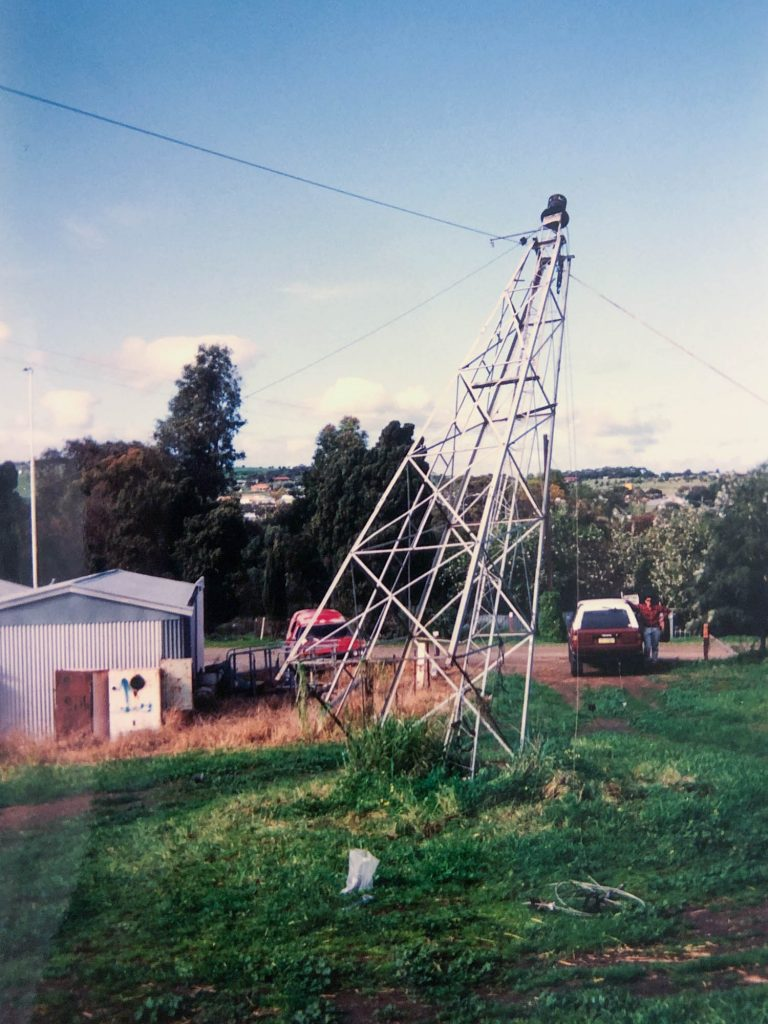 Hackham CFS Station tower being raised